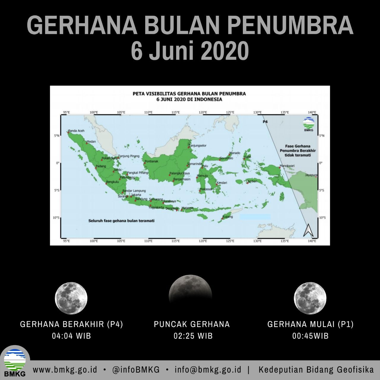 Gerhana bulan panumbra atau strawberry moon 6 Juni 2020.