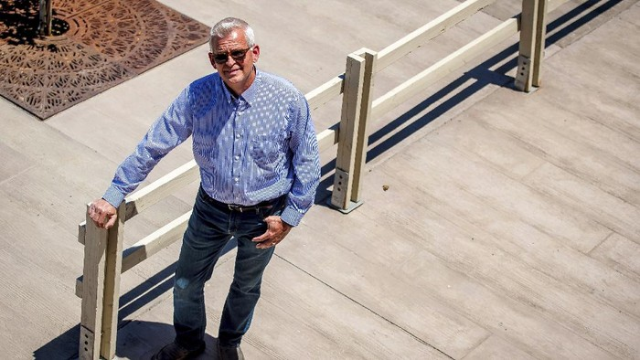 In this Thursday, May 21, 2020 photo shows Temecula Mayor James