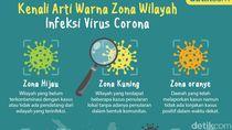 Ada Hijau hingga Hitam, Ini Arti Kode Warna untuk Zona Infeksi Corona