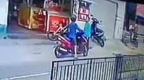 Rekaman CCTV Pemotor Tak Bayar Usai Isi BBM, Malah Ngeloyor Pergi