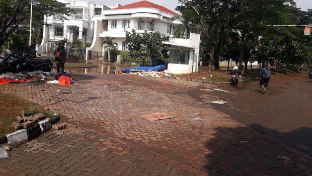 Banjir Rob di Komplek Pantai Mutiara Surut Setelah 2 Hari (Foto: Ilman/detikcom)