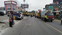 Pecah Ban, Ambulans Pembawa Jenazah di Serang Alami Kecelakaan