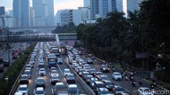 Volume Lalin di DKI, Normal: 7.000 Kendaraan/Jam, PSBB: 5.000 Kendaraan/Jam