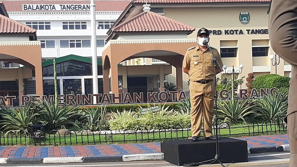 Sosialisasi Persiapan New Normal, Pemkot Tangerang Terjunkan 500 Personel