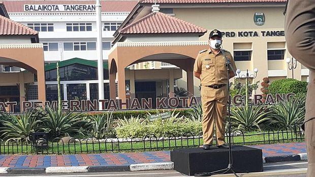 Persiapan New Normal, Pemkot Tangerang Gelar Apel Pasukan Khusus (Foto: Jehan/detikcom)