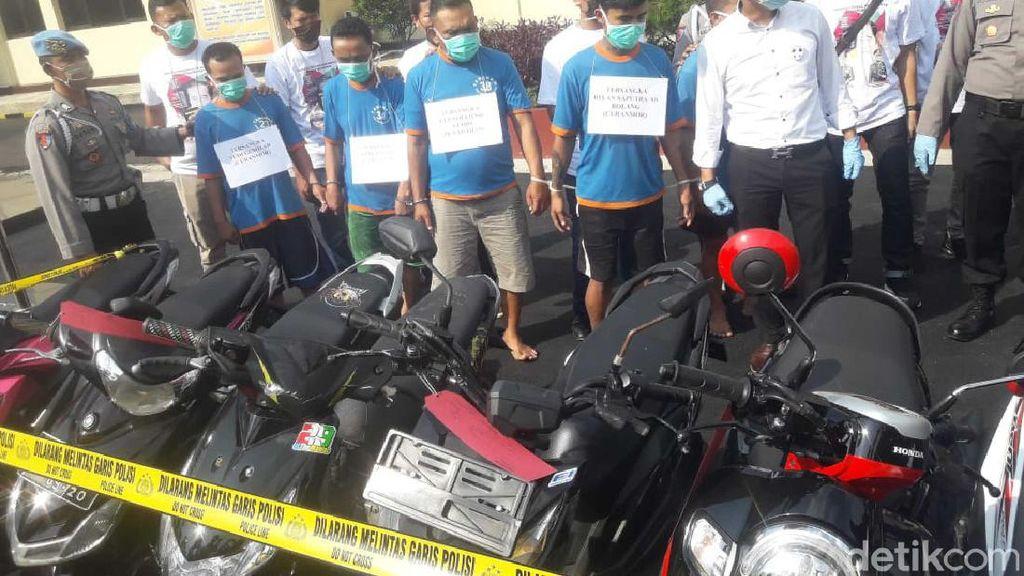 Dor! Polisi Lumpuhkan Tiga Orang Sindikat Curanmor di Cianjur
