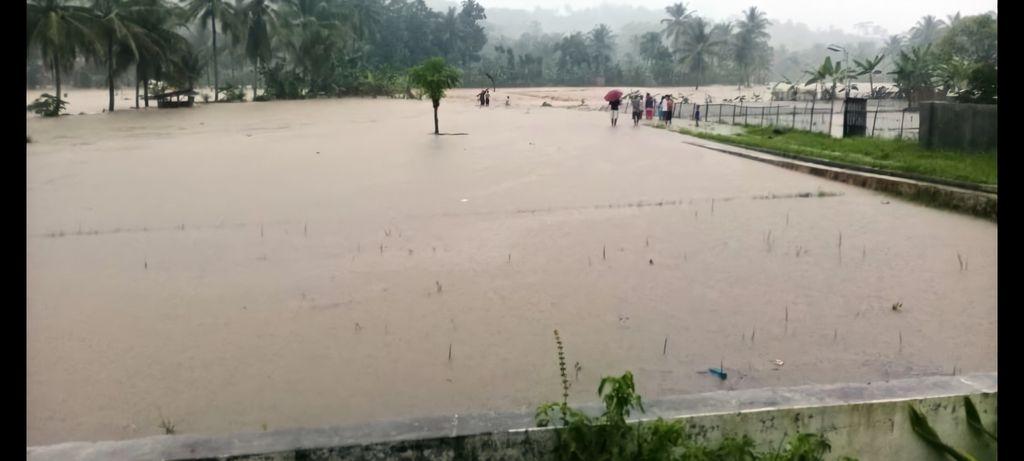 Sawah di Sukabumi terendam banjir