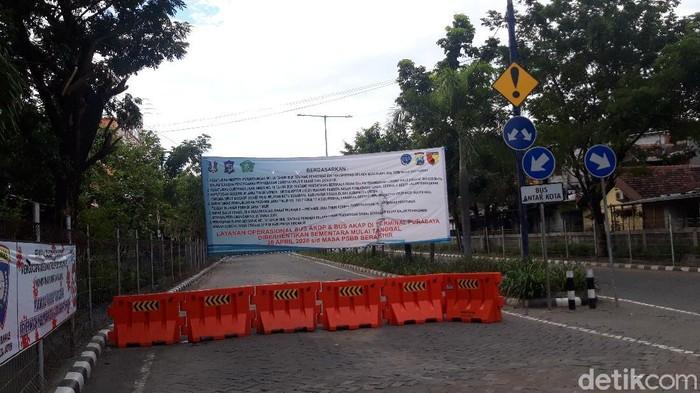 Terminal Purabaya Bungurasih masih ditutup jelang psbb berakhir