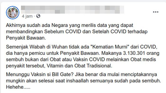 Sebagian netizen menyebut tidak ada yang meninggal murni karena Corona.