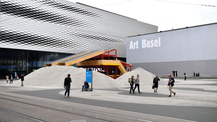 BASEL, SWITZERLAND - JUNE 13:  A general view during the press preview for Art Basel at Basel Messe on June 13, 2018 in Basel, Switzerland. Art Basel is one of the most prestigious art fair in the world showcasing the work of more than 4,000 artists selected by 300 leading art galleries.  (Photo by Harold Cunningham/Getty Images)