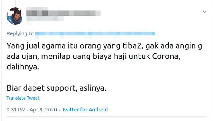 isu dana haji untuk tangani wabah Corona