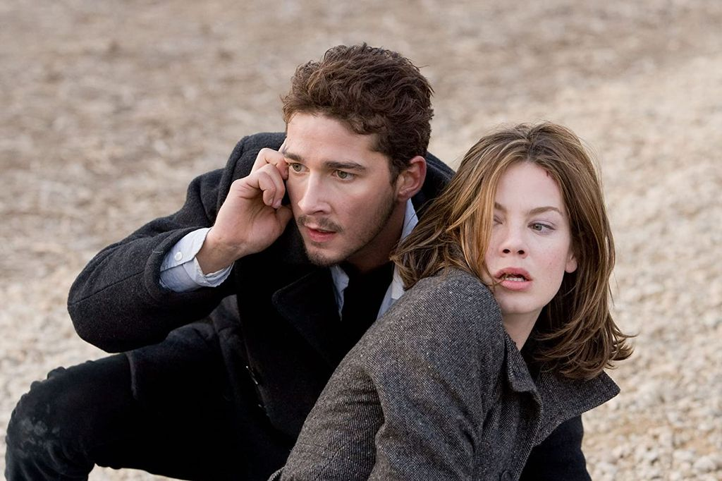 Shia LaBeouf dan Michelle Monaghan di film Eagle Eye (2008)