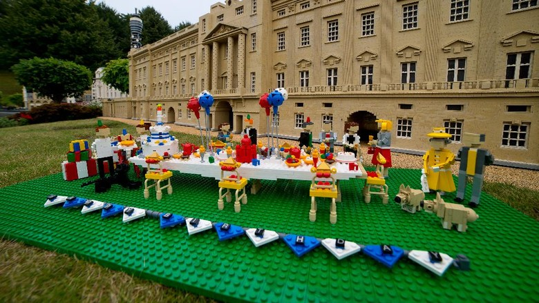 WINDSOR, ENGLAND - JULY 21:  Legoland Windsor host a 1st birthday party for Prince George of Cambridge at LEGOLAND Windsor on July 21, 2014 in Windsor, England.  (Photo by Ben A. Pruchnie/Getty Images)