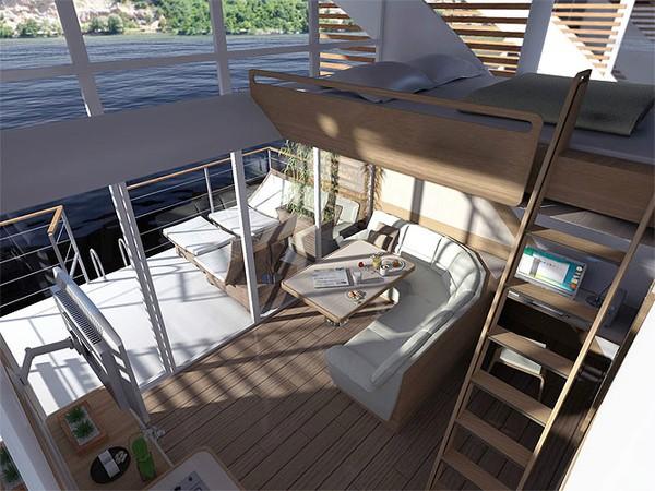 Bahkan, ada balkon untuk mempermudah akses ke air.