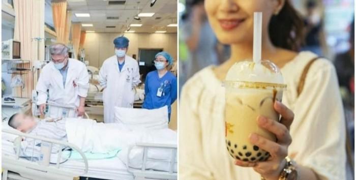 Remaja koma karena minum milk tea