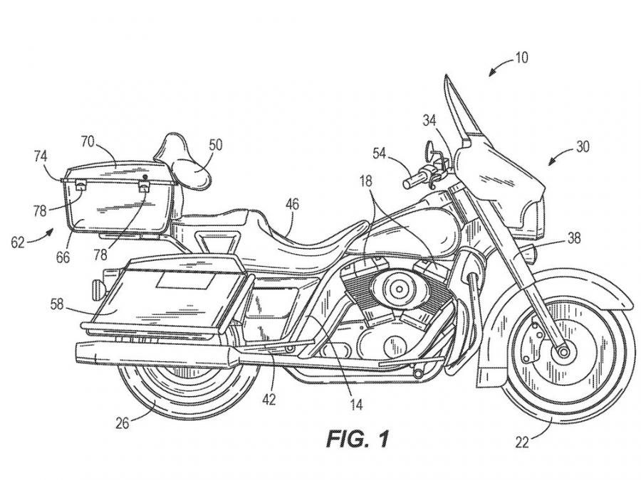Teknologi terbaru Harley-Davidson, bisa berdiri sendiri tanpa penyanggah.