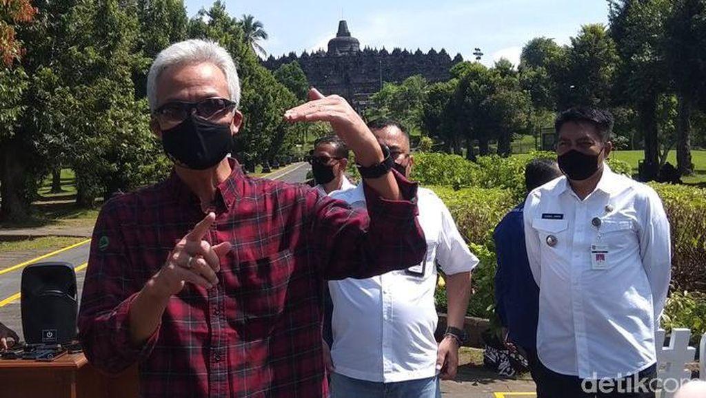 Drone Jatuh di Candi Borobudur, Ganjar: Cek!