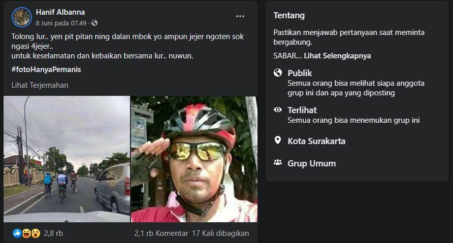 Keluhan Warganet Tentang Pesepeda yang Memakan Badan Jalan