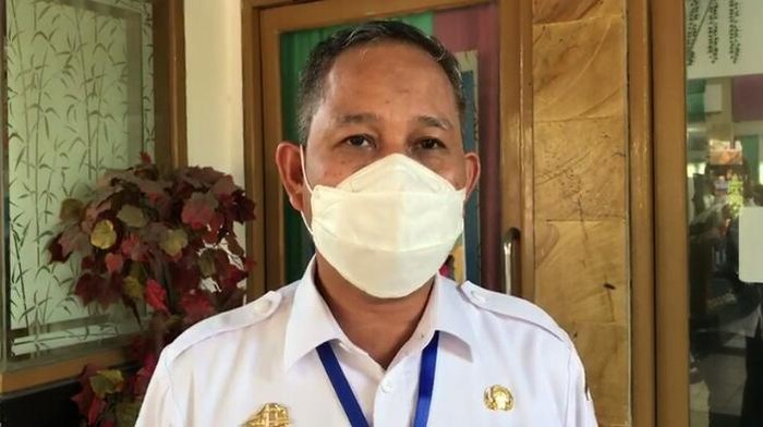 Pj Walkot Makassar, Yusran Jusuf di Posko COVID-19, Jalan Nikel, Makassar. Sulsel, Rabu (10/6/2020).