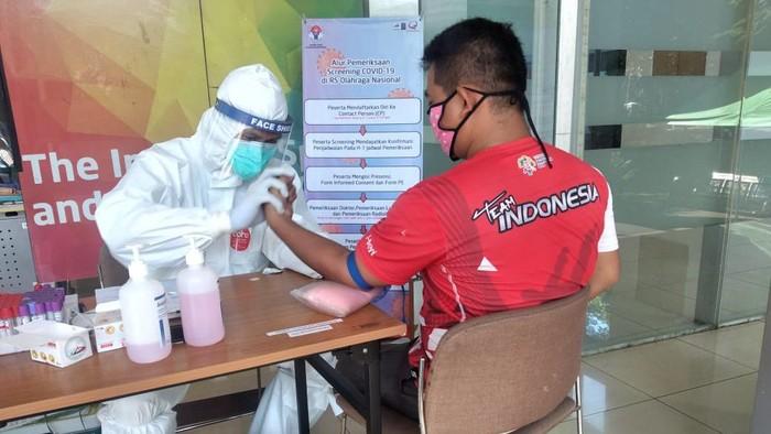 Tim Taekwondo Indonesia rapid test COVID-19.