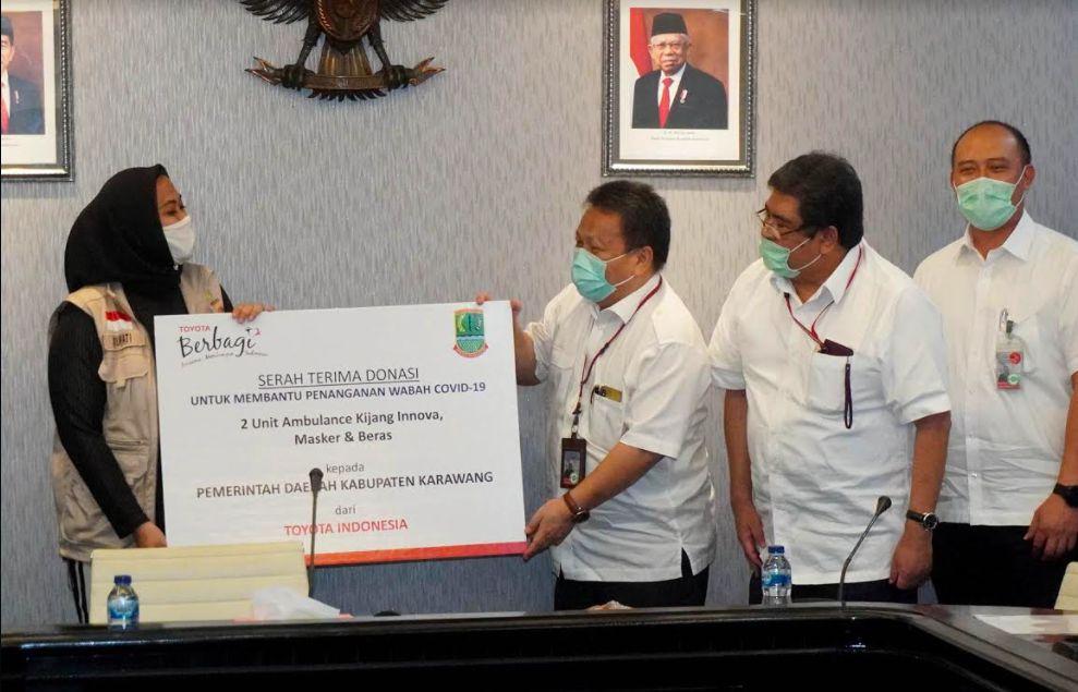 TMMIN SUmbang APD ke Kabupaten Karawang