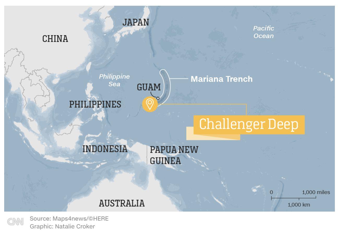 Challenger Deep, titik terdalam Palung Mariana