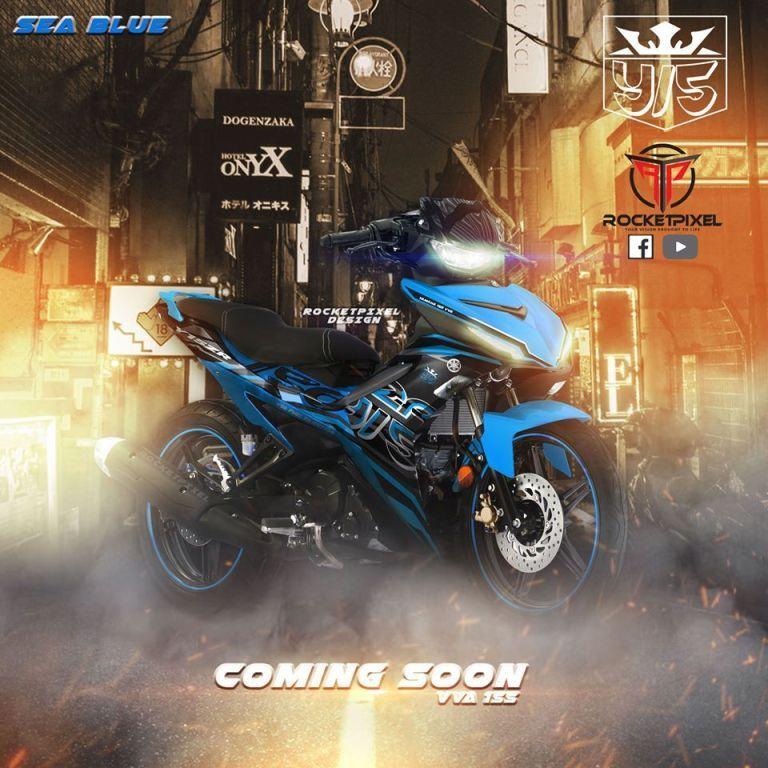 Hasil rendering Yamaha MX King oleh Rocket Pixel