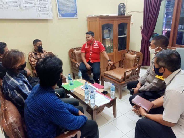 Pertemuan pihak SPI dengan Polisi (dok. Istimewa)