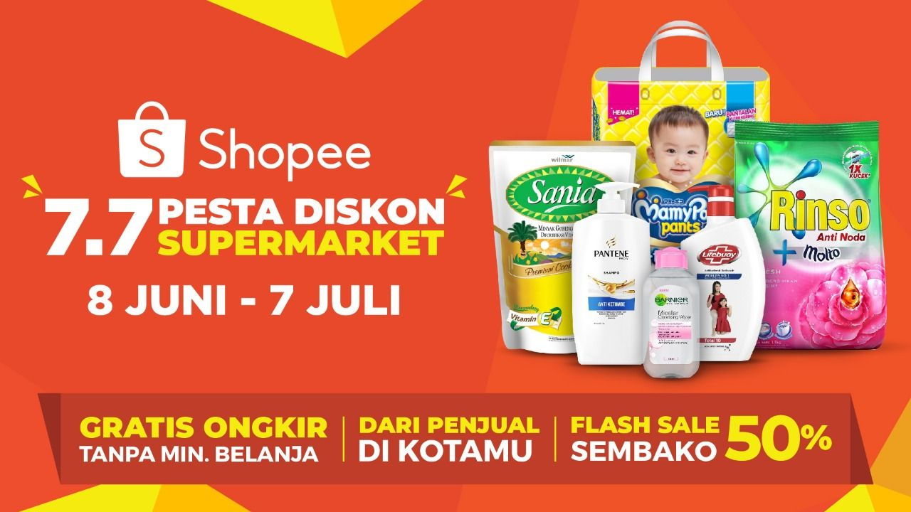 Shopee Pesta Diskon 7.7 Supermarket