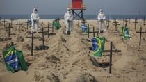 Aksi Gali Kuburan di Pantai Brasil