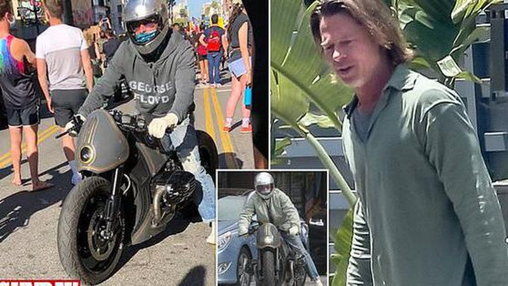 Naik Motor Kustom, Brad Pitt Ikut Aksi Demo Kematian George Floyd