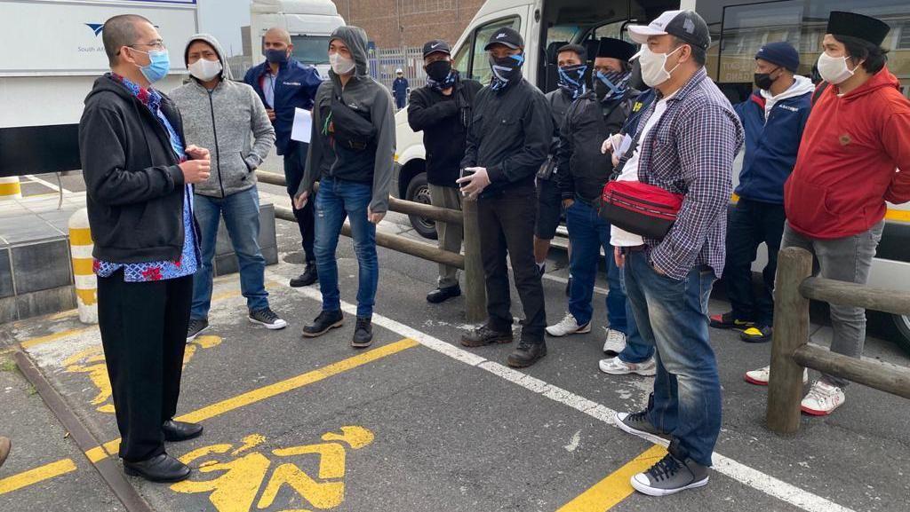 KJRI Cape Town Bantu Pemulangan 13 ABK Kapal Ikan Koryo Maru