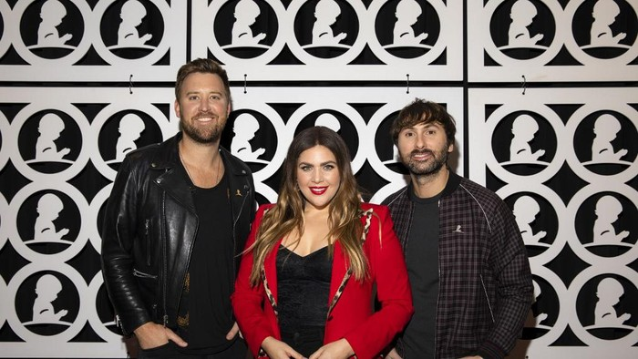 MEMPHIS, TN - JANUARY 17: (L-R) Charles Kelley, Hillary Scott and Dave Haywood of Lady Antebellum attend the Country Cares for St. Jude Kids Seminar at The Peabody on January 17, 2020 in Memphis, Tennessee.   Brett Carlsen/Getty Images for St. Jude Childrens Research Hospital/AFP