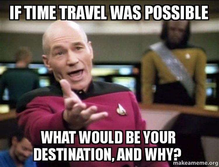 Topik penjelajahan waktu masih saja menarik banyak minat orang. Karena itu, muncul deretan meme yang mengangkat isu time traveling.