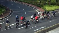 Pegowes Naik 1.000 Persen, DKI Tambah Jalur Sepeda Pop Up Sudirman-Thamrin