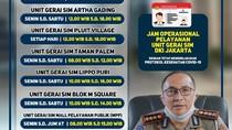 Mulai Besok Gerai SIM di Mal Jakarta Buka Lagi, Ini Daftarnya