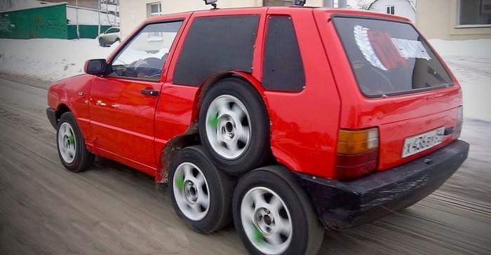 Modifikasi Fiat 8 roda di Rusia