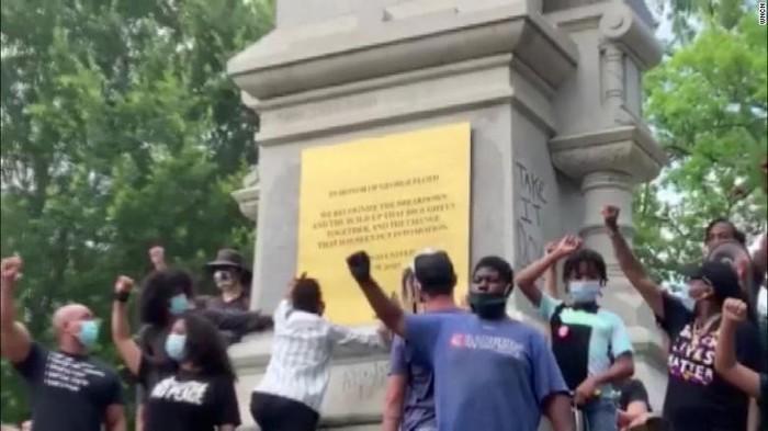 Patung di AS Diganti Jadi Monumen Peringatan untuk George Floyd
