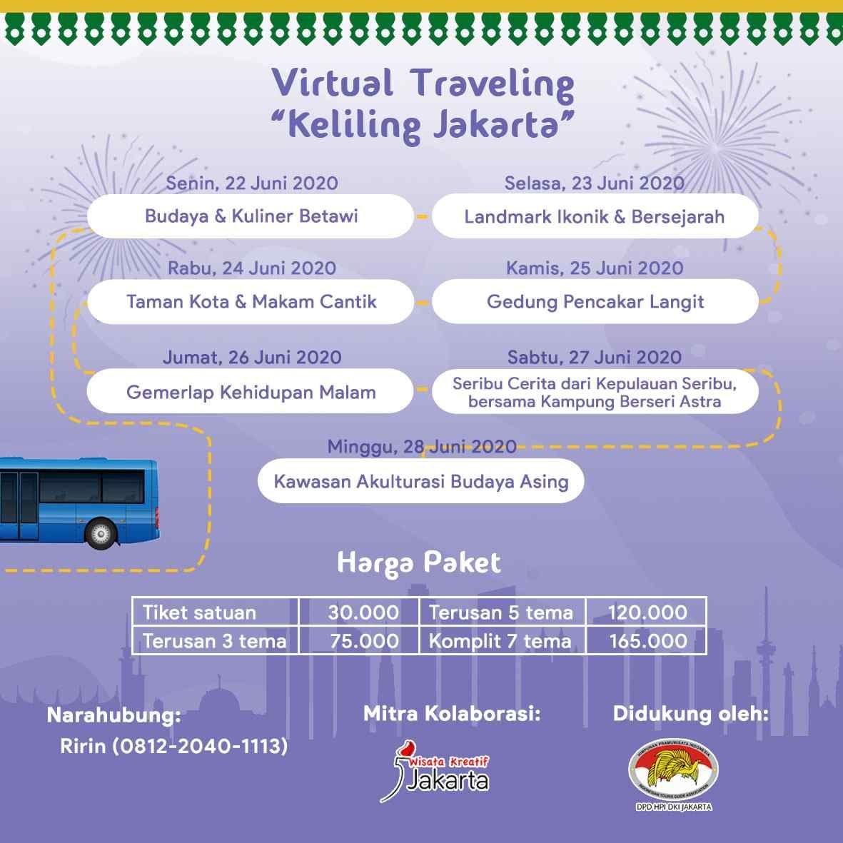 Jadwal wisata Jakarta di bulan Juni.