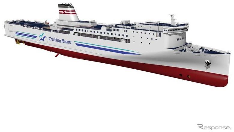 Ilustrasi kapal laut tanpa awak buatan Mitsubishi