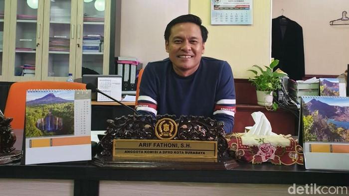 Ketua Fraksi Golkar DPRD Kota Surabaya Arif Fathoni