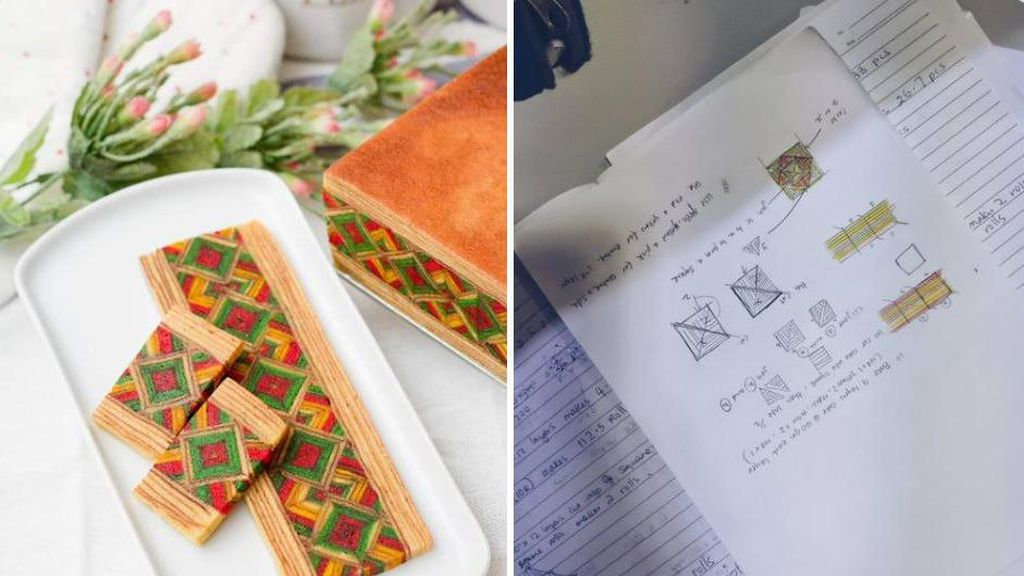 Mirip Rumus Matematika, Netizen Ini Ungkap Sulitnya Bikin Kue Lapis Sarawak