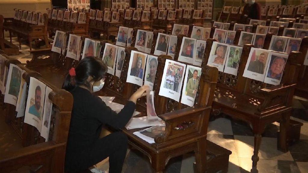 Gereja di Peru Rayakan Misa dengan Pasang Foto Korban Covid-19