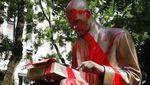 Patung Jurnalis Italia Jadi Sasaran Vandalisme Demo Anti Rasis