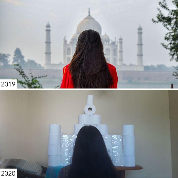 Perbandingan Foto Liburan Tahun 2019 Vs 2020 yang Bikin Ngakak