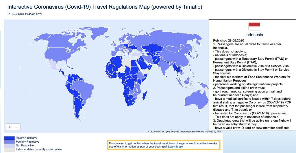 Peta Timatic IATA