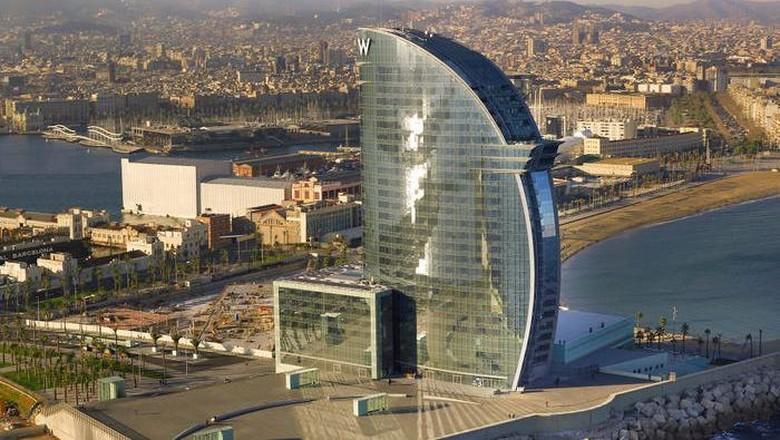 Hotel mewah di Barcelona.