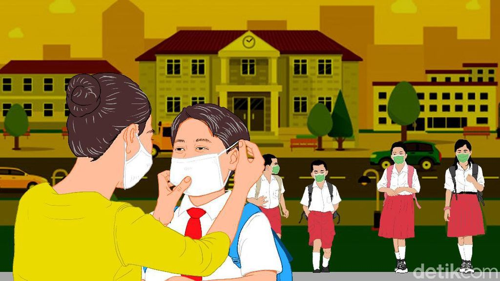 Masih Zona Kuning, KBM SD-SMP di Serang Digelar Online