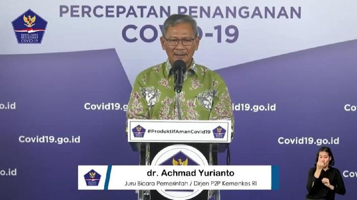 Juru bicara pemerintah untuk penanganan wabah Corona, Achmad Yurianto (YouTube BNPB)