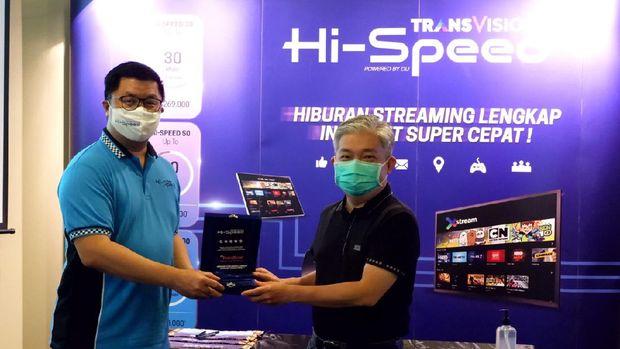 Launching Transvision Internet Hi-Speed dan paket minipack GALAXY (Dok. Transvision)